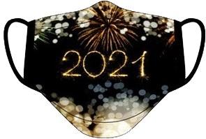 Mondkapje Happy New Year 2021