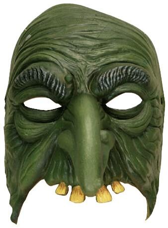 Halfmasker Heks Groen