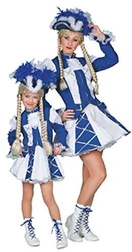 Meisjeskostuum Dansmarietje Blauw/Wit