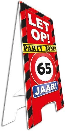 Warning Sign 65 jaar!