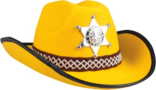 Kinder Cowboyhoed Sheriff Geel