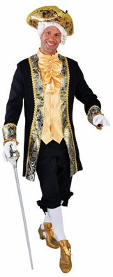 Herenkostuum Markies Luxe Zwart-Geel