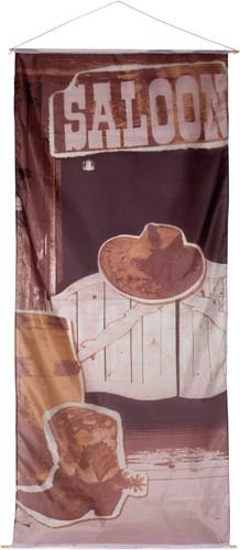 Banner Cowboy Wild West Saloon 240x100cm
