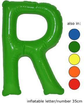 Opblaas Letter R 35cm Groen