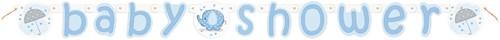 Letterslinger Baby Shower Blauw - Jongen (1,6m)