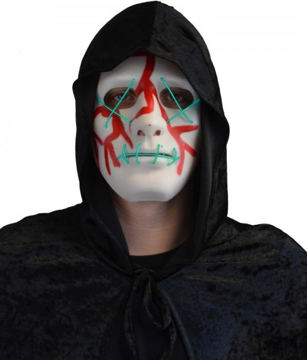 Halloween Verlichting.Halloween Masker Bloody Met Led Verlichting The Purge