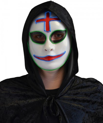 Halloween Masker Clown met LED-verlichting (The Purge)