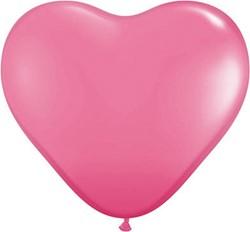Hartballonnen Roze 25cm 10 stuks