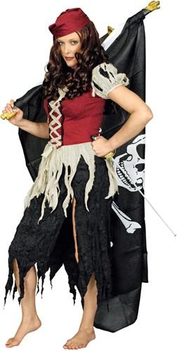 Dameskostuum Lompen Pirate