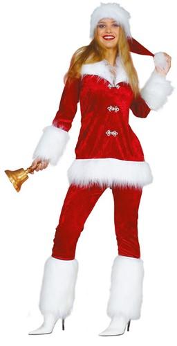 Dameskostuum Kerstvrouw de Luxe