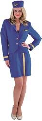 Stewardessenpakje Luxe Blauw