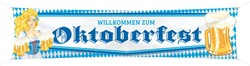 Banner Oktoberfest Bierpullen (180x40cm)