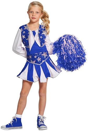 Cheerleaderspakje Luxe Blauw-Wit voor meisjes