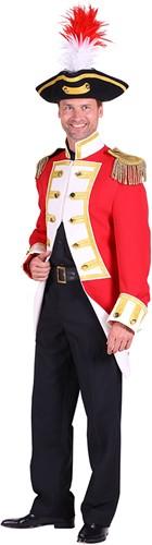 Jas Gardeofficier Rood-Wit voor heren