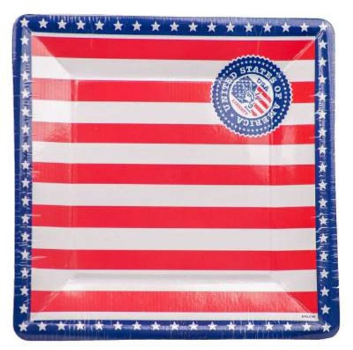Bordjes USA - Amerika 8st. 25x25cm