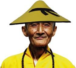 Chinese hoed Geel OSFA