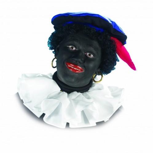 Zwarte Piet Kraag Trevira Wit