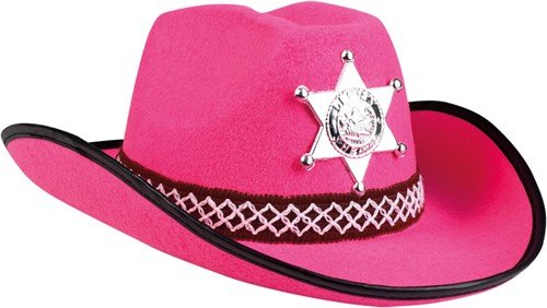 Kinder Cowboyhoed Sheriff Roze