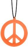 Peace Ketting Neon Oranje