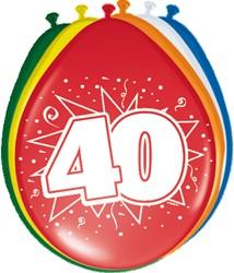 Ballonnen 40jaar 8st