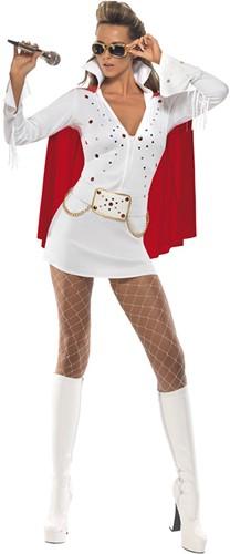 Elvis Kostuum Wit voor dames