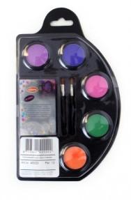Waterschmink Palette Neon 6 kleuren