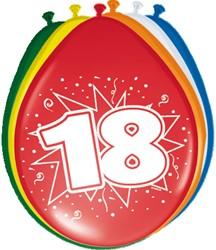 Ballonnen 18jaar 8st