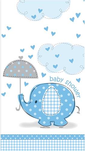 Tafelkleed Baby Shower Blauw - Jongen (137x213cm)