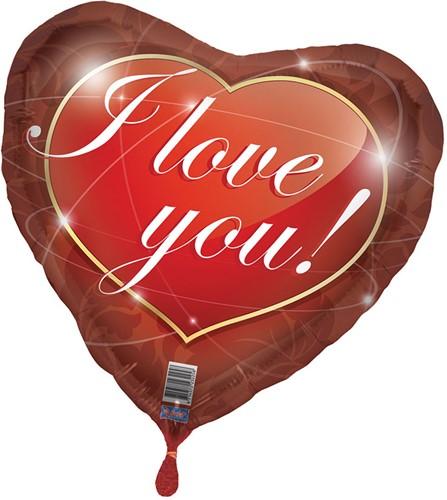 Folieballon I Love You
