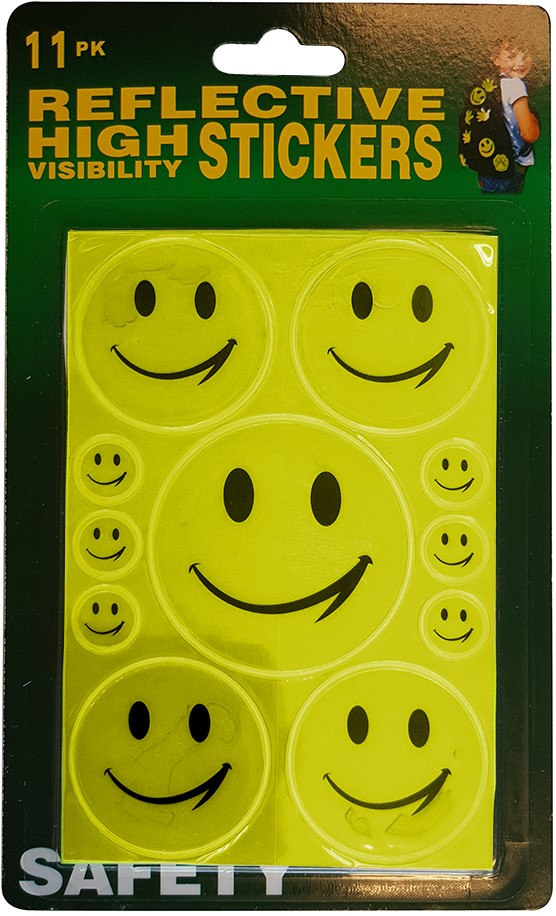 3ac62eed4df Reflecterende Stickers Smileys 11st.