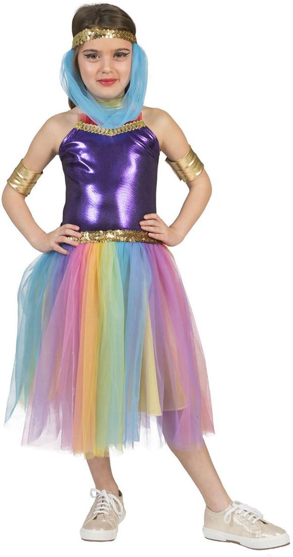 f2842606c51071 Suleika Kostuum Purple Rainbow voor meisjes