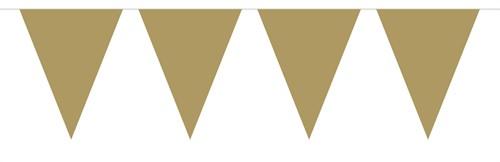 Vlaggenlijn Metallic 10mtr Goud