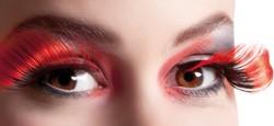 Wimpers Flamboyant Zwart-Rood