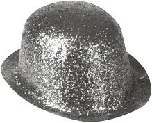 Bolhoedje Glitter Zilver