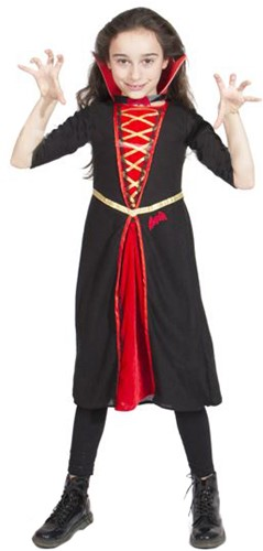 Meisjes Kostuum Gothic Vampier