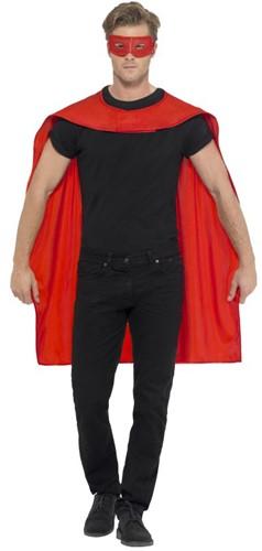 Superhelden Cape Rood met Oogmasker