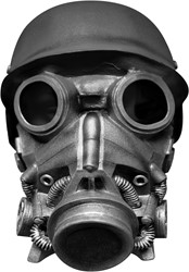 Chemical Warfare Gasmasker Latex Luxe