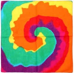 Zakdoek Hippie Rainbow (56x56cm)