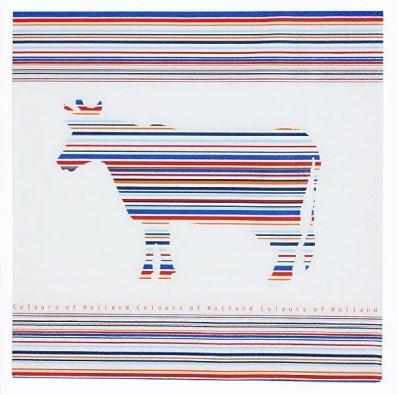 Servetten Cow stripes
