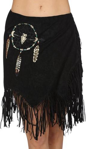 Dames Rokje Indiaanse / Hippie Zwart