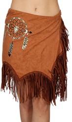 Dames Rokje Indiaanse / Hippie Bruin