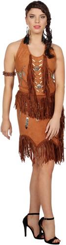 Dames Topje Indiaanse / Hippie Bruin (voorbeeld)