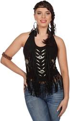 Dames Topje Indiaanse / Hippie Zwart