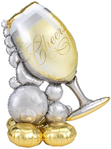 Airloonz Bubbly Wine Glass Cheers (104x129cm)