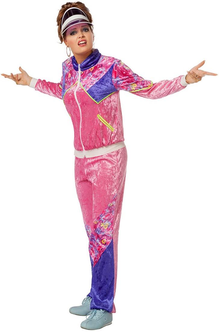 575fbb70ff0 Eighties Trainingspak Pink voor dames | Carnavalsland