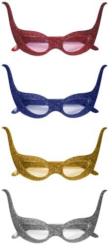 Bril Cruella Glitter Blauw (alle kleuren)