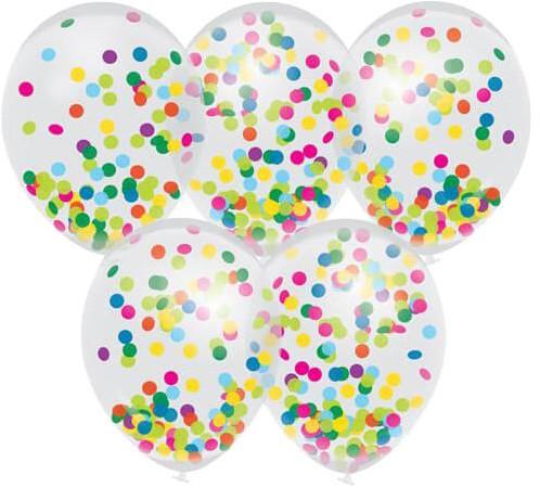 Ballonnen Confetti (5st)