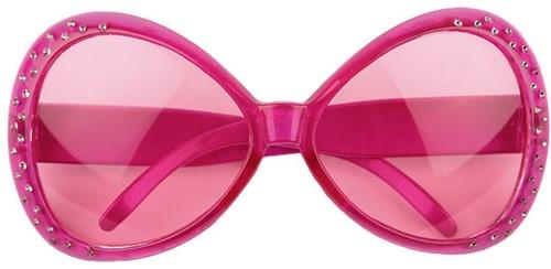 Bril Mega Diamant Pink