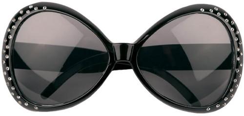Bril Mega Diamant Zwart
