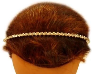 Haarband Strass zilver
